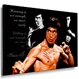 Fotoleinwand24 Bild auf Keilrahmen - Bruce Lee AA0158 /