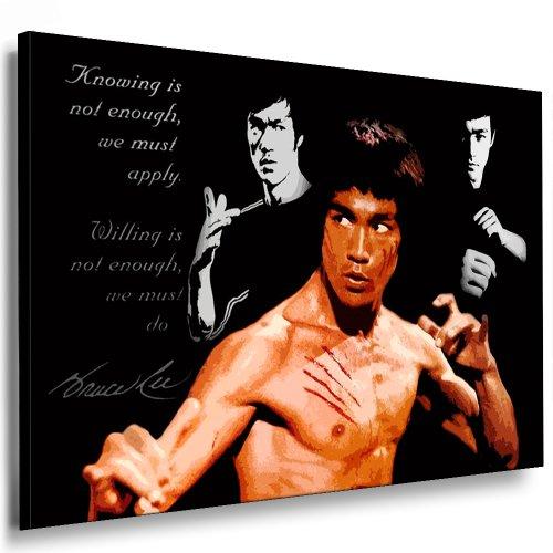 Fotoleinwand24 Bild auf Keilrahmen - Bruce Lee AA0158 / Bunt / 120x80 cm