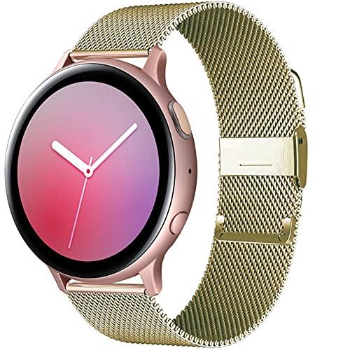 20mm 22mm Correa Para Reloj Samsung Galaxy Active 2 40 / 44mm Gear S3 Pulsera Huaw GT / GT2 / 2e / Pro Reloj 3/45 / 41mm Banda Magnética 10688 (Band Color : Gold, Band Width : Gear S2-Galaxy 42mm)