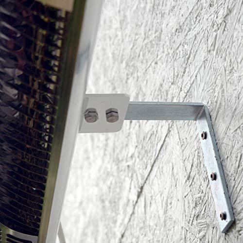 Gardigo Edelstahl Infrarotstrahler Heizstrahler, Terrassenstrahler wärmt gezielt Menschen, 2000 W, Deutscher Hersteller - 5