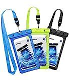 Mpow 3 Pack Pochettes Etanches Téléphone, Etui/Housse/Coque Téléphone Portable Etanche Universel (6.5'') Certifiée IPX8 Profondeur de 30m pour iPhone 11/iPhone X/8/7,Galaxy S10/S9/S8/S7/P30/P20