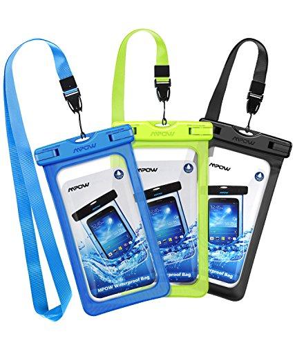 Mpow [3 Pezzi Custodia Impermeabile IPX8 Custodia Impermeabile, Borsa Impermeabile,Sacchetto di Smartphone Universale per iPhone 11/iPhone XS/X/8/7, P30/P20/P10,Galaxy S10/S9/S8 Fino a 6,5 Pollici