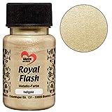 Royal Flash, Acryl-Farbe, metallic, mit feinsten Glitzerpartikeln, 50 ml (hellgold)