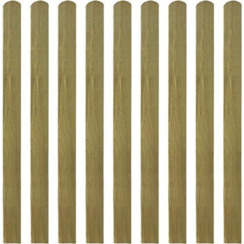 Queues pour clôture 10 pièces 120 cm Bois imprégné. Ces queues pour clôture formeront une barrière de protection pour votre jardin, Patio ou terrasse