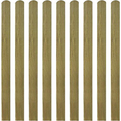 vidaXL 10x Impregnated Fence Slats 120cm Wood Garden Fencing Pickets Stake