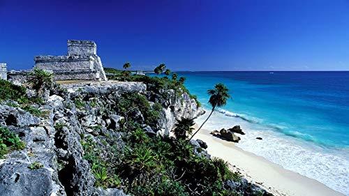 Puzzle para Adultos Adultos Tulum México Verano Ruinas Mayas Historia del Mar Rompecabezas 1000 Piezas Arte de Bricolaje
