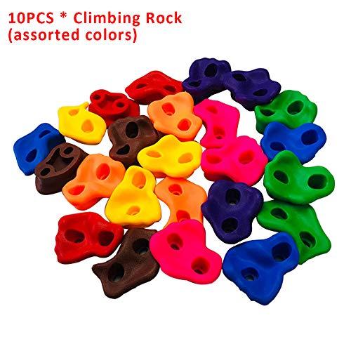 armine88 Kletterfelsen, Klettergriffe, Klettergerüst für den Indoor-Heimspielplatz im Freien DIY Kletterwandgriff-Kits (10 Stück)
