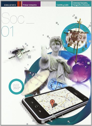 Ciencias Sociales 1º ESO (Tres Trimestres) Castilla-León: 3 (Proyecto Aula 360º)