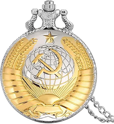 DNGDD Reloj de Bolsillo Reloj de Bolsillo de Cadena Delgada de aleación Duradera para Hombres, Elegantes Relojes de Bolsillo Rojos con diseño de Estrella de Cinco Puntas para Mujeres, práctico rel