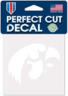 WinCraft NCAA Iowa Hawkeyes 4x4 Perfect Cut White Decal, One Size, Team Color