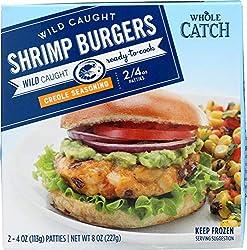 Whole Catch Wild Caught Shrimp Burgers with Creole Seasoning (2 - 4oz Patties), 8 oz (Frozen)