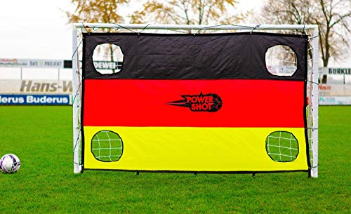 Netsportique Fußballtor für Kinder Fun - 3 Größen zur Auswahl - aus uPVC Klicksystem Zubehör und 100% WETTERFEST (1,8 x 1,2m Tor + Torwand Deutschland)