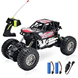 1:18 Rock Crawler 2.4Ghz Remote Control Car 4WD Off Road RC Monster Truck Red