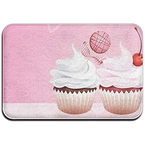 Joe-shop Tapijt Anti-slip Vlek Fade Resistant Deur Mat Kersen en Snoep Cupcakes Outdoor Indoor Mat Room Tapijt