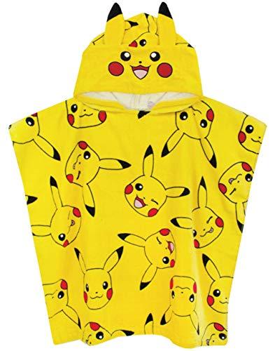 Pokémon Serviette Poncho Garçons Filles Enfants Taille Unique à Capuche Pikachu