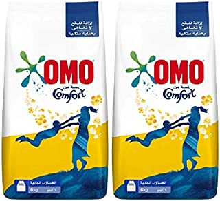 OMO Active Laundry Detergent Powder with Comfort, 2 x 6 Kgs