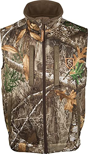 Drake Waterfowl Men's Silencer Fleece with Agion Active XL Hunting Vest, Realtree Edge, Large