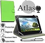 Navitech 10 Zoll grünes Hülle/Cover mit 360 Rotierbare Stand Funktion mit Stylus Pen für das Odys Lux 10 Tablet-PC