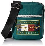 Tommy Hilfiger Tommy Flag Mini Reporter - Bolso bandolera, color verde