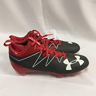 New Mens Nitro Mid D Football Cleats Red/Grey Size 11 M