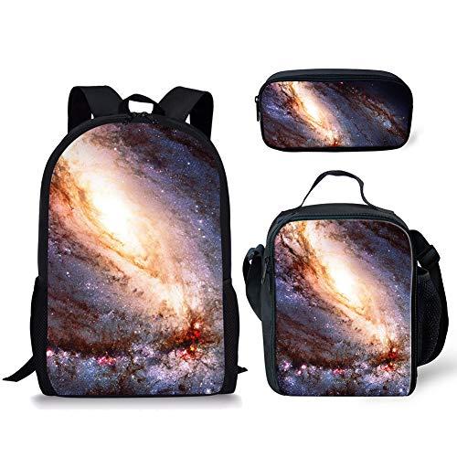 POLERO Galaxy Universe Printed Rucksack mit Federmäppchen & Schulranzen, Game Fans Geschenke, Studenten Bookbag Laptop-Rucksack-Spielraum-Computer-Beutel für Jungen, Mädchen, Kinder Teens