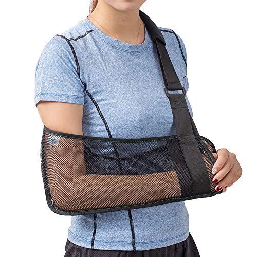 TODDOBRA Mesh Arm Shoulder Sling - Medical Shoulder Immobilizer for Shower - Adjustable Arm Brace for Torn Rotator Cuff Injury - Right Left Arm for Men Women - Shower Sling for Elbow, Wrist