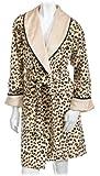 Stan Herman Women's Faux Mink Short Shawl Wrap, Leopard Print, X-Large