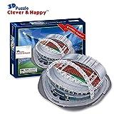 Mankvis 3D Puzzle Wembley Stadium Model, Nachbau des Home Fußball-Feld der England Nationalmannschaft DIY Puzzle-Spiele für Kinder Fans