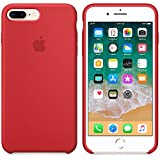 Funda para iPhone 7Plus/8Plus 5,5Inch Carcasa Silicona Suave Colores del Caramelo con Superfino Pelusa Forro, para Apple iPhone 7Plus/8Plus (Rojo)