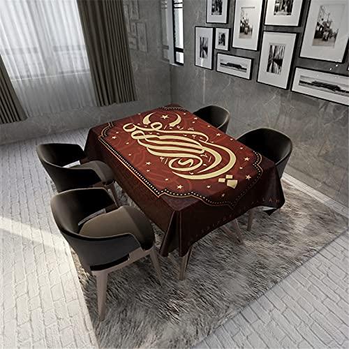 Mantel 3D / Mantel De Poliéster/Mantel Impermeable/Mantel Rectangular/Mantel Redondo/Mantel Cuadrado Hogar Hotel Cocina Sala De Estar Mantel 140x140cm