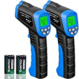 HOLDPEAK 981C Non-Contact Digital Laser Infrared Thermometer Temperature Gun Instant-read -58 to 1022℉ (-50 to 550℃) with 9V Battery and Emissivity 0.1-1.0(Adjustable) - 2 Pack