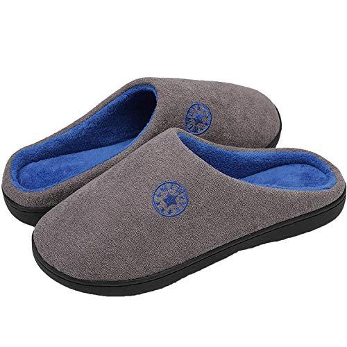 Zapatillas Casa Mujer Hombre Invierno Calido Zapatillas Cómodas Suave Flat Slipper Zapatillas de casa de Mujer Ultraligero cómodo y Antideslizante Zapatilla de Estar por casa para Mujer