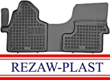 Rezaw-Plast All Weather Rubber Floor Mat for Mercedes Sprinter 2007-2020 Custom Fit Cargo Van Only