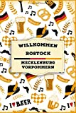 willkommen in Rostock - Mecklenburg-Vorpommern: Lined Travel Journal, Cute Germany Notebook, Perfect gift for your Trip in Deutschland States and Cities