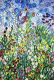 OSDFN Puzzle de 3000 Piezas de Madera-Puzzle del Mundo de Las Flores 3000 Piezas
