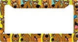 Scooby Doo Shaggy Velma Fred Daphine Comic Strip Collage License Plate Frame Alumminum Car Auto (B)