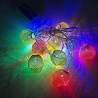 ロープライト、20個のLED装飾バッテリー式ストリングライト、感謝祭のクリスマス用のドングリの妖精ライト秋の寝室の装飾(3M)