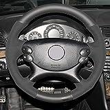 LUVCARPB Housse de Volant de Voiture, adaptée pour Mercedes Benz E63 AMG 2006-2008 CLS 63 AMG 2007, Accessoires intérieurs Cousus à la Main Bricolage