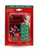 Konstsmide 1263-553 LED Lichterkette Sterne / 20 rote Dioden / Batterien: 4xAA 1.5V / transparentes Kabel