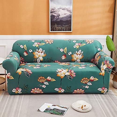ASCV Fundas Protectoras de sofá Impresas Estilo Tinta para Sala de Estar Funda elástica elástica Fundas seccionales para sofá de Esquina A2 1 Plaza