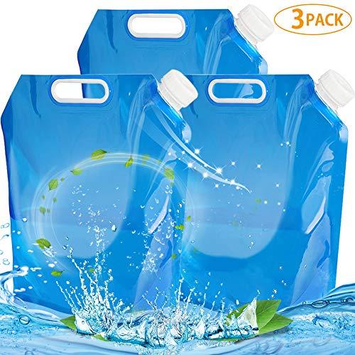 NALCY 3 x 10L Wasserkanister Faltbar Faltkanister Wasserbehälter Trinkwasser Behälter Wassertank für Outdoor Camping Wandern Reisen Faltbarer Wasserkanister