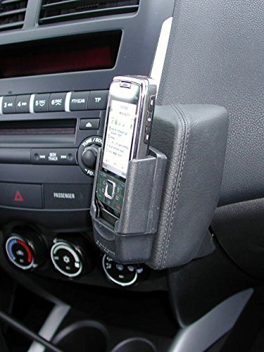 KUDA 086395 Halterung Kunstleder schwarz für Mitsubishi ASX ab 2010 / Citroën C4 Aircross ab 05/2012 / Peugeot 4008 ab 05/2012