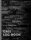 Call Log Book: Phone Call & Voice Mail Message Book with Address Line, 8.5x11 Inch, 120 pages