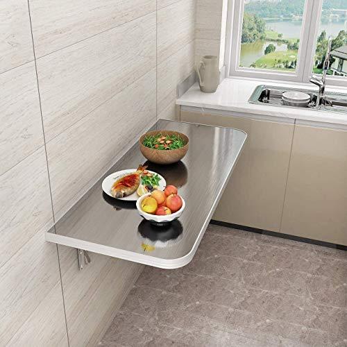 Mesa plegable de pared para ordenador, resistente y duradera, utilizada como hogar, cocina, lavandería, garaje, salón (tamaño: 120 x 50) estantes de almacenamiento (tamaño: 80 x 30)