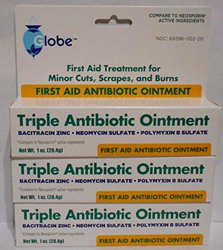 Triple Antibiotic Ointment Antibacterial Cream in Individual Packets for Cuts, Scrapes, Burns. Maximum Strength Skin Care. Value Pack 1oz Tube 3 Pack - First Aid to Go!