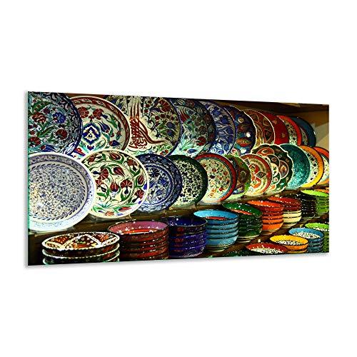 Fornuis afdekplaat keramische plaat bord bont 1 stuk 90x52 kookplaten glas inductie