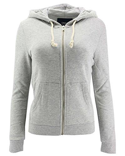 ONLY Damen Sweatjacke Jacke onlJANE L/S Zip Hood SWT Hoodie Kapuze (grau (Light Grey Melange), XS)