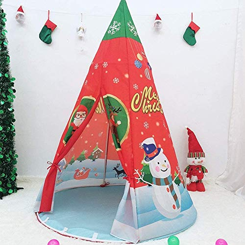 DXQDXQ Tent 2020 Christmas Conical Palace Castle Children kids Play Tent House Indoor or Outdoor Garden Toy House Playhouse Beach Sun Tent Boys Girls Quick Assemble Portable
