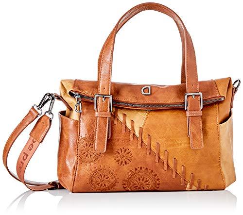 Desigual PU Hand Bag, Mano Mujer, marrón, U