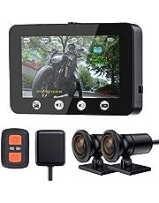 【2019年最新版】ドライブレコーダー バイク用 前後2カメラ 全体防水 4.5インチIPSパネル GPS搭載 Sony IMX323レンズ WiFi搭載 64GBカード付き 170°広角 フルHD1080P 200万画素 G-センサー 常時・同時・ループ録画 256GB SDカード対応 全国LED信号機対応 日本語説明書(P4.5 Pro)